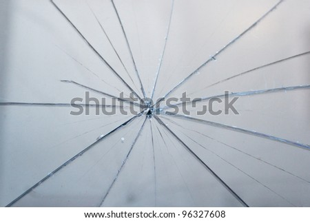 Detail of texture of broken glass - stock photo