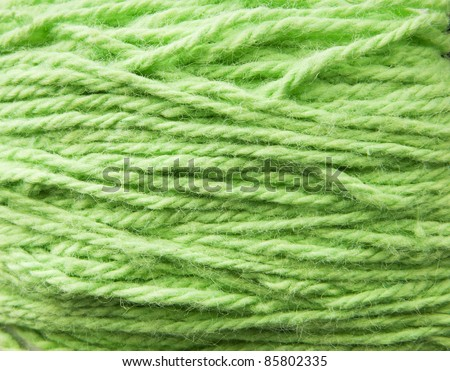 Detail of textured wool wrapped in a ball - stock photo