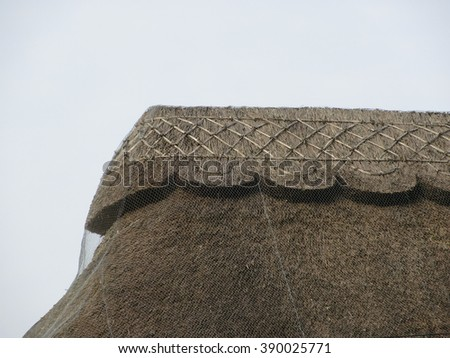 Detail of thatched roof