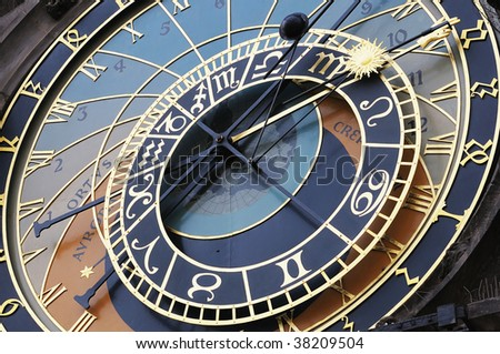 Detail of the astronomical clock of Prague, Czech Republic (Europe).