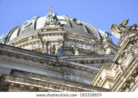 Detail of the Cathedral Berlin, Germany - stock photo