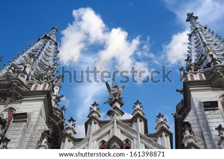 Detail of the catholic church of St. Nicholas in Kiev also known as organ hall