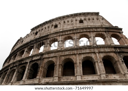 Detail of the Colosseum in Rome - stock photo