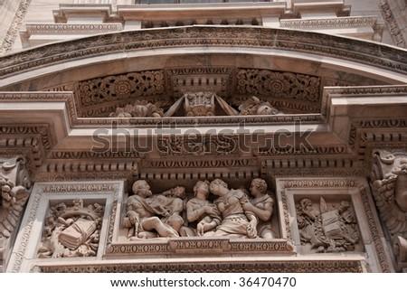 Detail of the Duomo, Milan - stock photo
