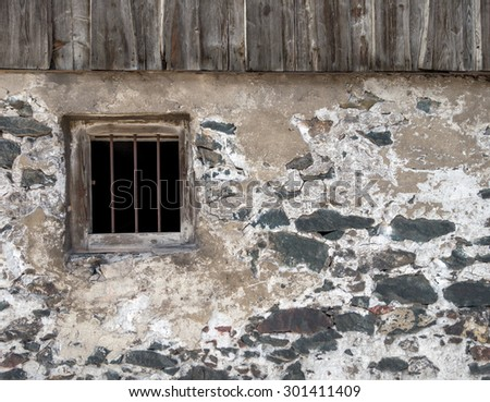 Old vintage farm house window broken stock photo 42234289 for Farmhouse basement