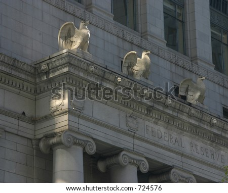 Detail of the Federal Reserve building in San Francisco. - stock photo