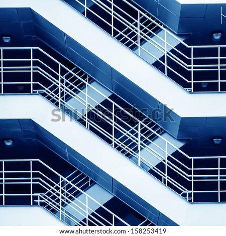 Detail of the geometric stairs - stock photo