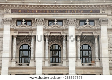 Detail of the Hofburgtheater (Imperial Court Theater) in Vienna, Austria - stock photo