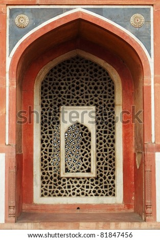Detail of the Humayun Tomb, Delhi, India