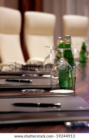 Detail of the meeting room - stock photo