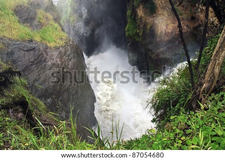 detail of the Murchison Falls in Uganda (Africa) - stock photo