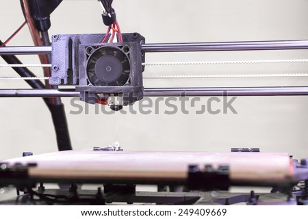 Detail of the Open Source 3D Printer - stock photo