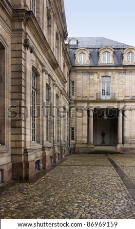 detail of the Palais Rohan in Strasbourg (Alsace/France) - stock photo