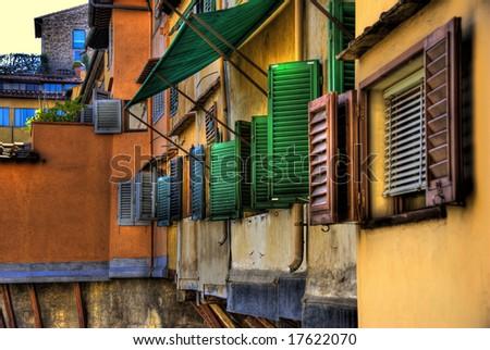 "Detail of the ""Ponte Vecchio"", Florence, Italy - stock photo"