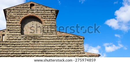 Detail of the San Lorenzo church facade in Florence, Italy - stock photo