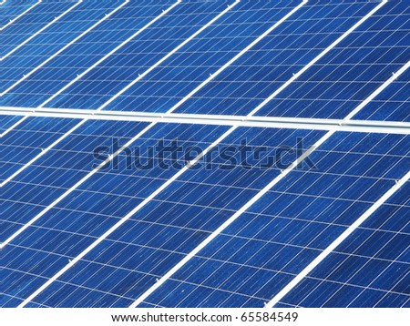Detail of the solar panels - stock photo