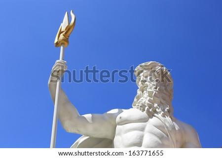 Detail of the statue of Poseidonon , Poseidonon in Thailand. - stock photo