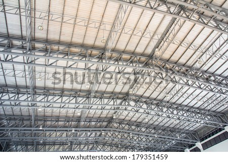 Detail of the structure of a stadium roof