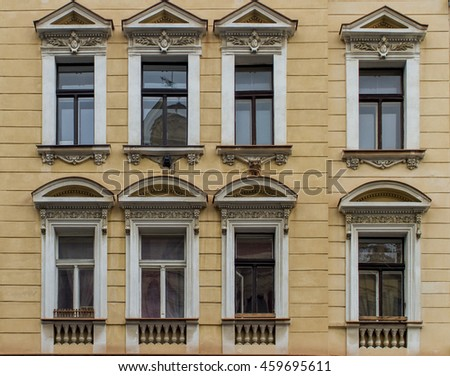 Detail of the traditional windows from Prague, Czech Republic