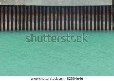 Detail of the wharf in Dover - stock photo