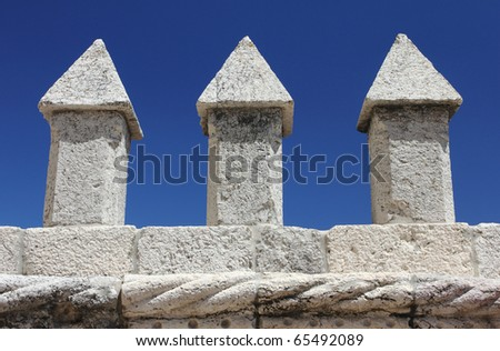 Detail of Torre de Belem, Lisbon - stock photo