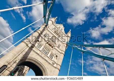 Detail of Tower Bridge, London, UK - stock photo