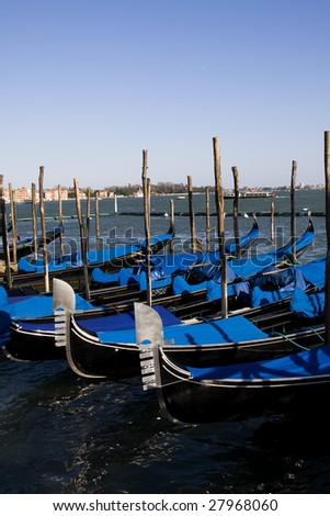 Detail of traditional venice boats