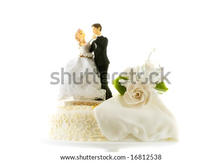 Detail of traditional wedding cake