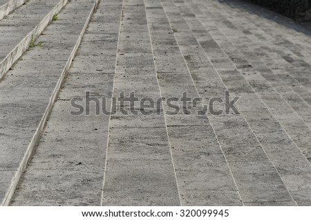 Detail of typical example of rationalist architecture in Rome - stock photo