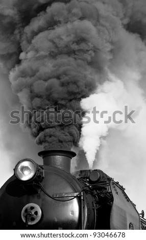 Detail of Vintage steam engine - stock photo