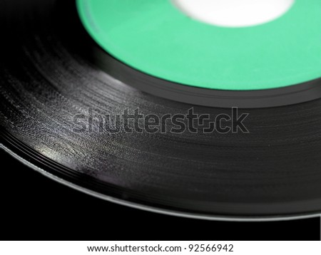 Detail of vinyl record (music recording support)
