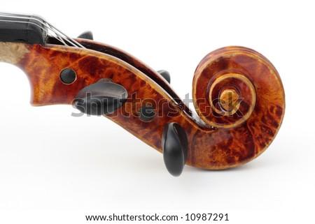 detail of violin, on white - stock photo