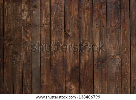 detail of wall made of wooden planks