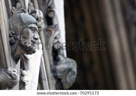 Detail of Westminster Abbey - stock photo