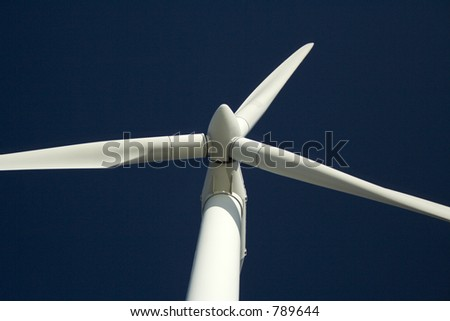 Detail of wind turbine - stock photo