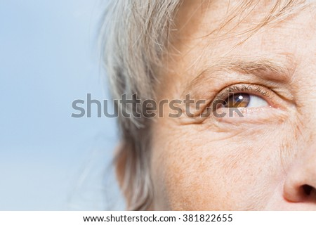 Detail of woman's face - stock photo