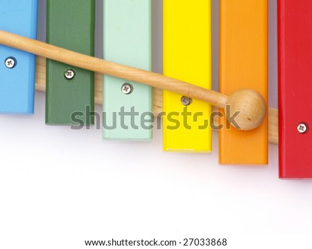 detail of xylophone for children - stock photo