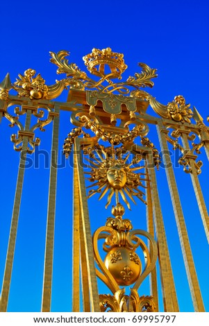 Detail on the fence of versailles. - stock photo