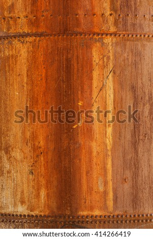 detail rusty tank - stock photo