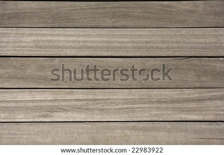 Detail shot of a wooden deck - stock photo