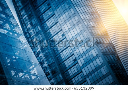 detail shot of high-rise buildings in modern city,Shanghai,China.