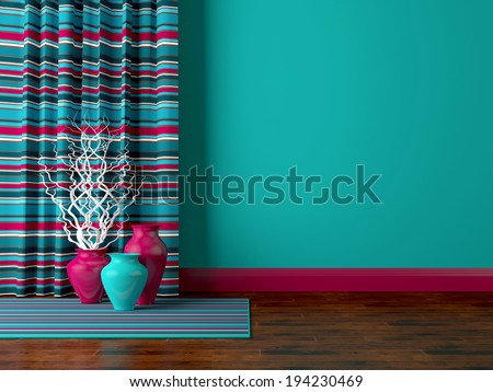 Detail shot of modern living room wall. Luxury interior design. - stock photo