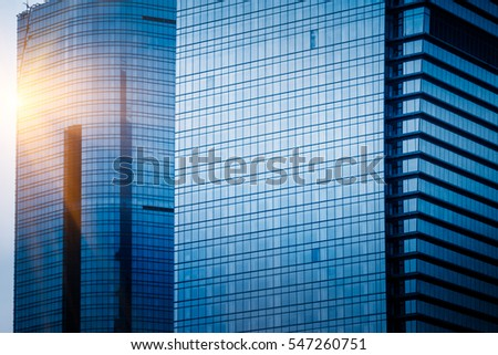 detail shot of skyscrapers in city of China.