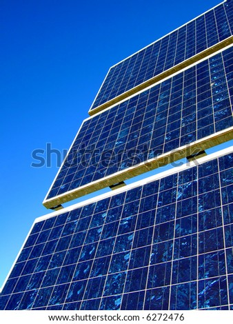 detail shot of solar panels - more images of solar cells in my portfolio - stock photo