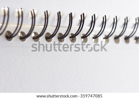 detail spiral notebook close up 'selective focus with shallow depth of field - stock photo