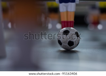 detail tabletop soccer ball - stock photo