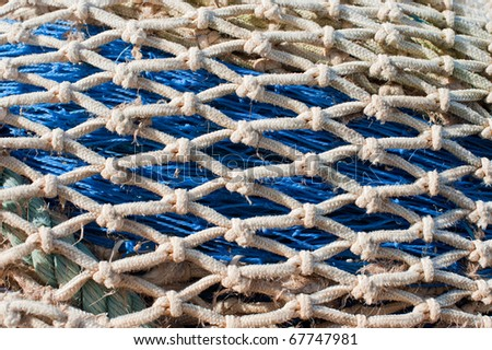 Detail take of some traditional fishing nets - stock photo