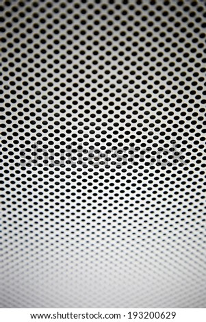 detail texture of aluminum plate with hole - stock photo