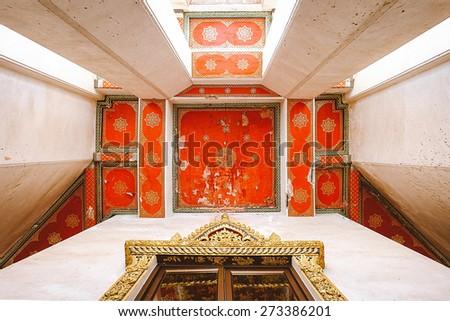 detail thai temple - stock photo