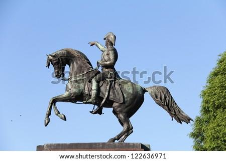 Detail:  The Monument to the Liberator of Argentina, Jose de San Martin - stock photo